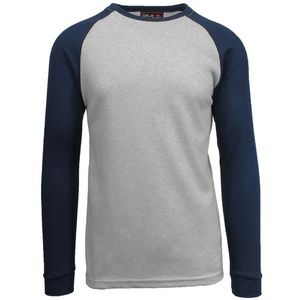 Galaxy By Harvic Men's Raglan Thermal Shirt 4XL